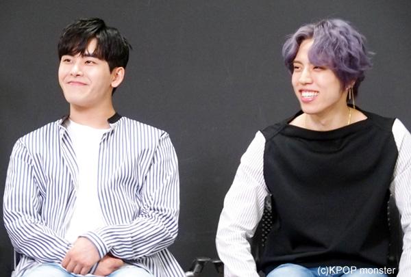 INFINITE ホヤ(左)、ドンウ