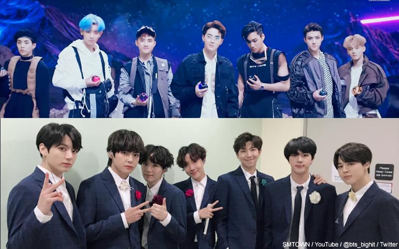 EXO, BTS(防弾少年団)