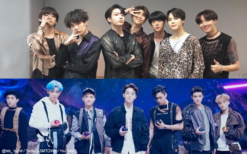 BTS(防弾少年団)、EXO