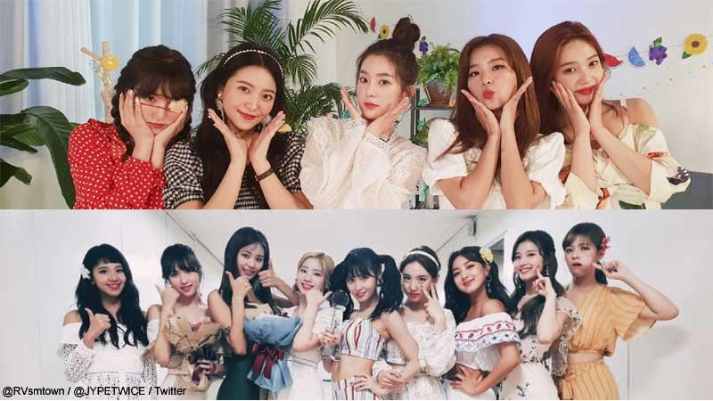 Red Velvet、TWICE
