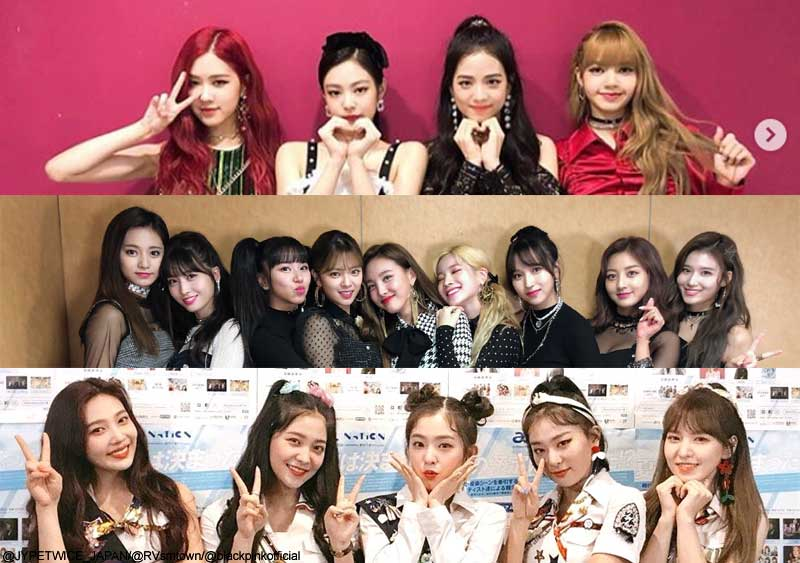 BLACKPINK、TWICE、Red Velvet