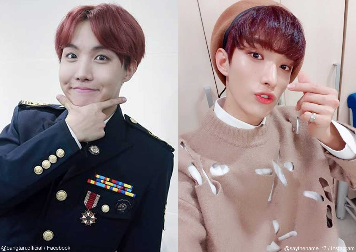 BTS(防弾少年団)J-Hope、SEVENTEEN DK(右)