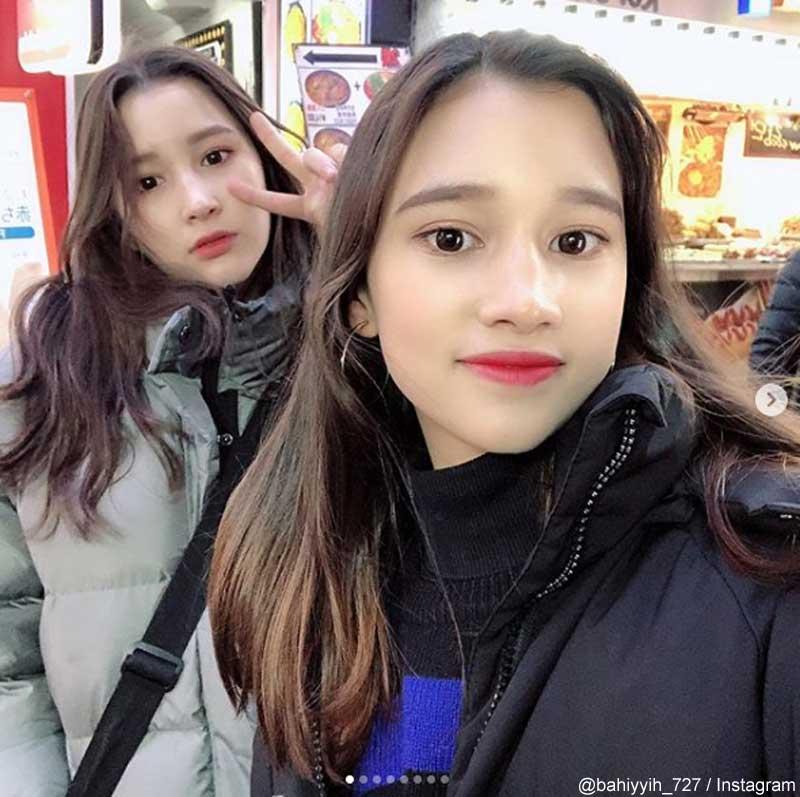 TXTニンカイの2人の姉と妹(@bahiyyih_727/Instagram)