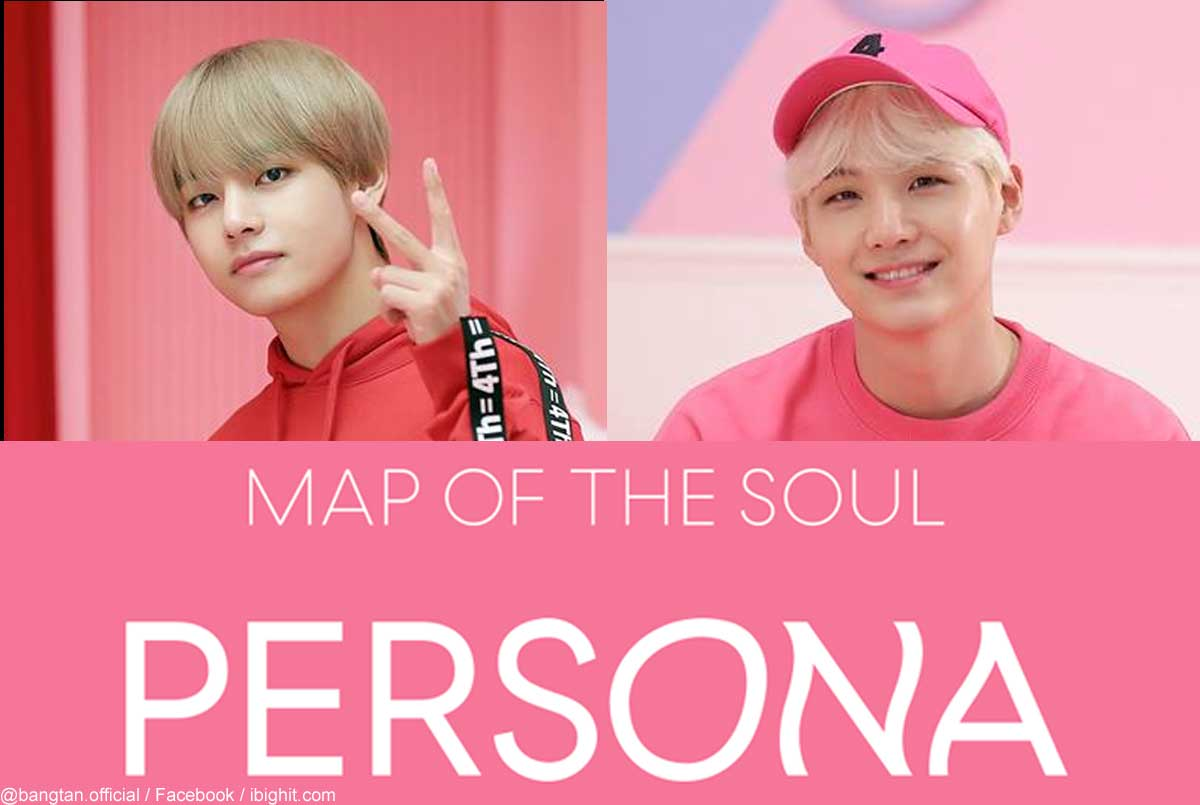 BTS(防弾少年団)V、シュガ、「MAP OF THE SOUL:PERSONA」ロゴ