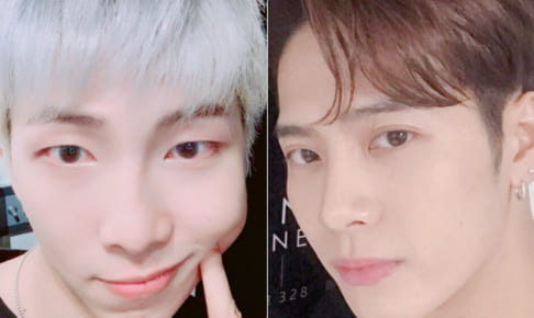 (左)BTS(防弾少年団) RM、GOT7 ジャクソン