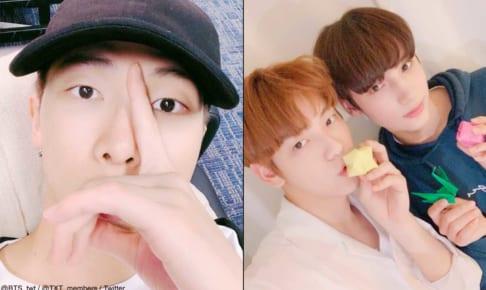 BTS(防弾少年団)RM、TXT(TOMORROW X TOGETHER)スビン、ヒュニンカイ
