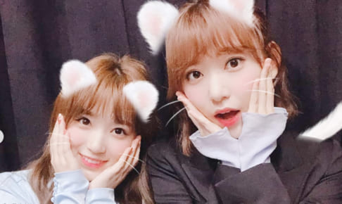 IZ*ONE 矢吹奈子(左)、宮脇咲良(右)