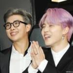 BTS(防弾少年団)RM(左)、ジミン(右)