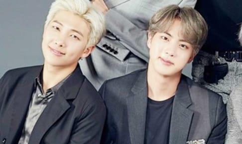 BTS RM&ジン(右)