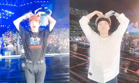 BTS V、RM(右)