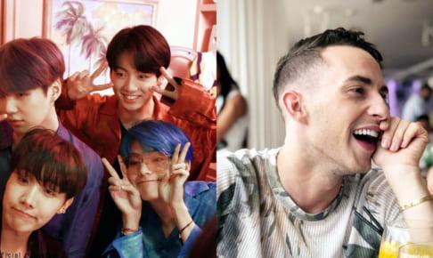 (左)BTS(防弾少年団)(右)アダム・リッポン