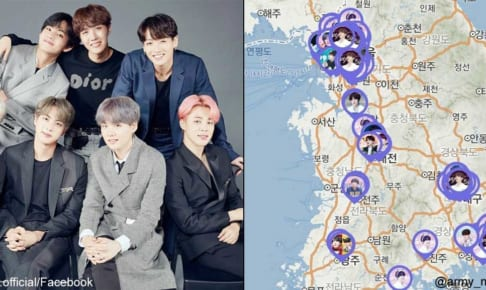 BTS、ARMY MAP(@army_map/Twitter)