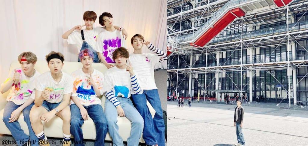 BTS、ポンピドゥーセンターでRMが撮影した写真(右)