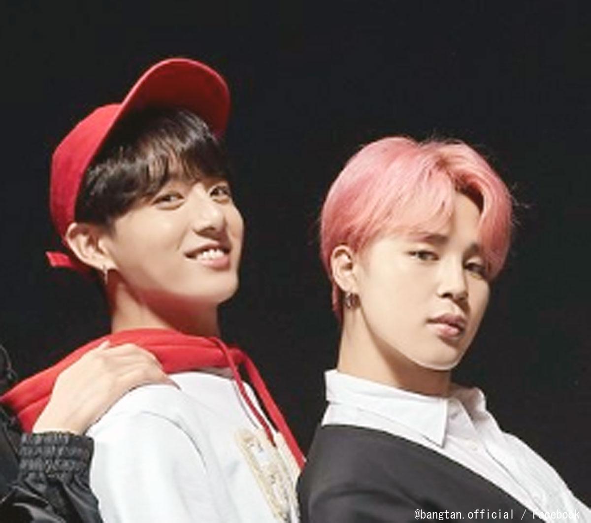 (左)BTS ジョングク(右)ジミン