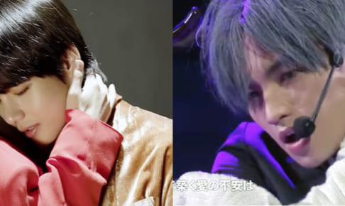 (左)BTS V(右)Sexy Zone 中島健人