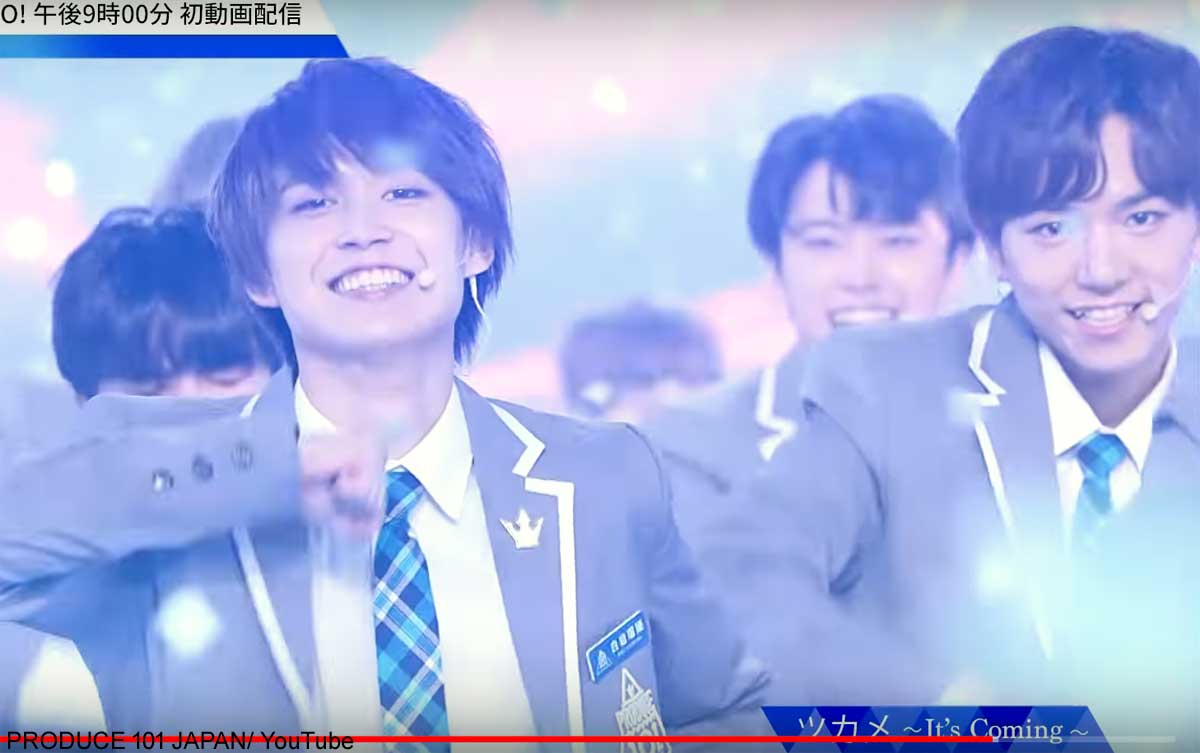 「PRODUCE 101 JAPAN」パフォーマンス映像キャプチャー/©LAPONE ENTERTAINMENT