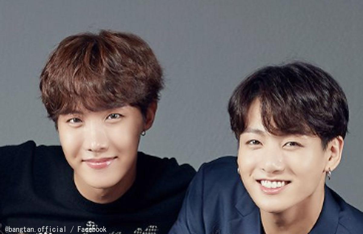 (左)BTS J-HOPE(右)ジョングク