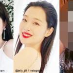 BLACKPINK ジェニー(左)と元f(x) ソルリ(中央)とあるモデル(右)