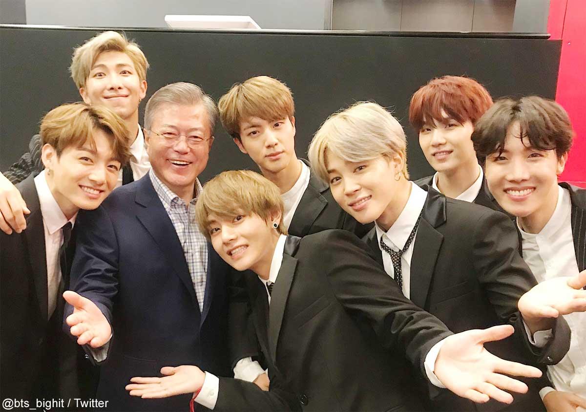 BTS、ムン・ジェイン大統領