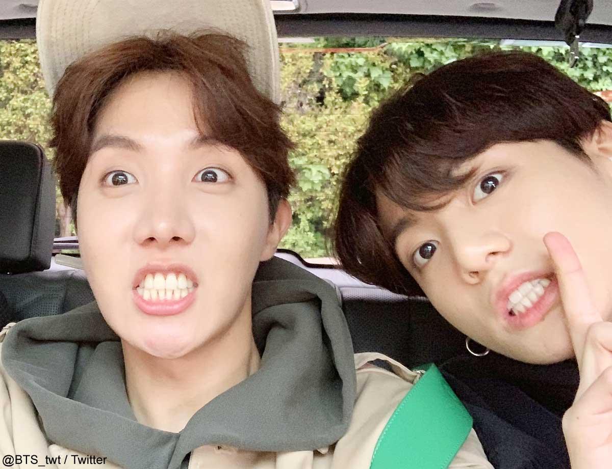 BTS J-Hope、ジョングク(右)