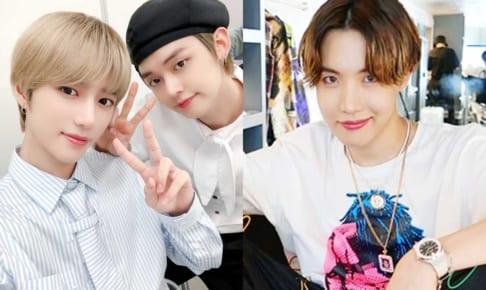 TXTボムギュ&ヨンジュン、BTS J-Hope(右)