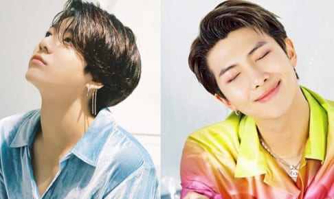 BTSジョングク、RM(右)