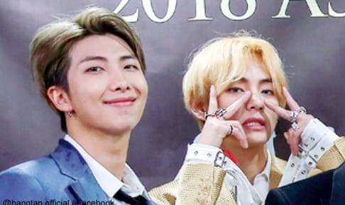 (左)BTS RM(右)BTS V