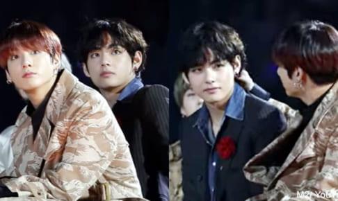 (左)BTS ジョングク(右)BTS V