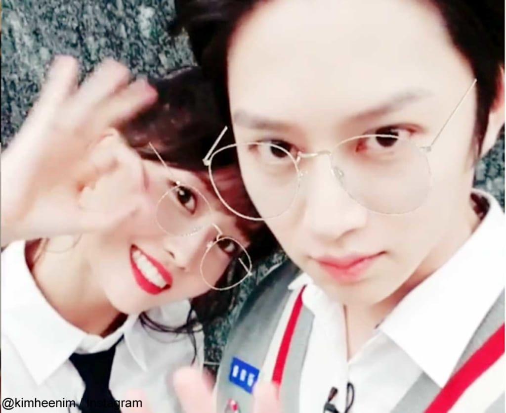 TWICEモモ&Super Juniorヒチョル(右)