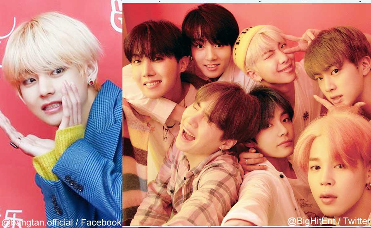 V、BTSメンバー(右)