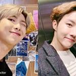 BTS(防弾少年団) RM(左)とJ-HOPE(右))