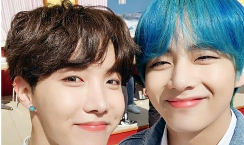 (左)BTS J-HOPE(右」V