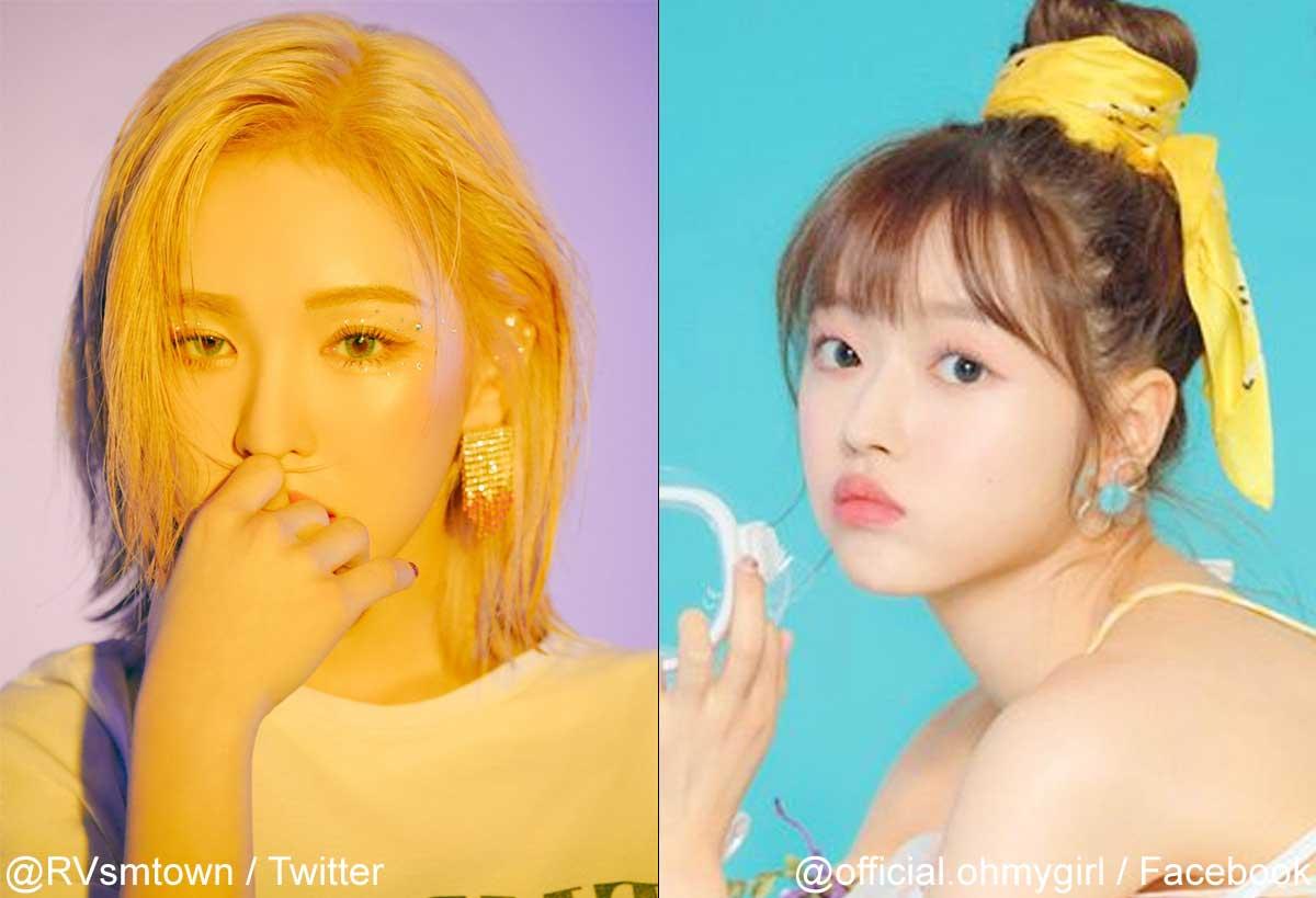 Red Velvetウェンディ、OH MY GIRLユア(右)