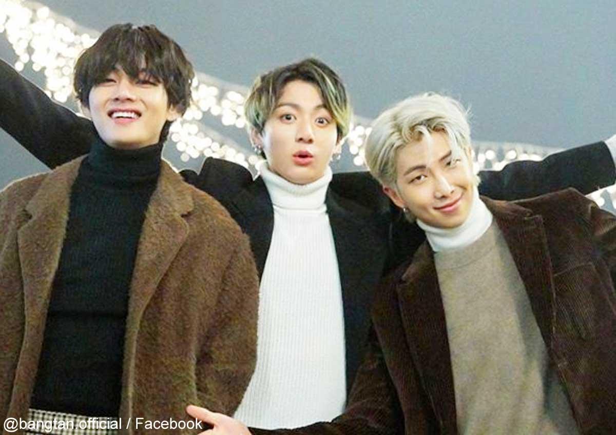 BTS V、ジョングク、RM(右)