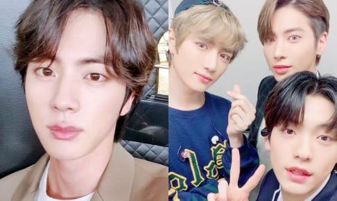 (左)BTS ジン(右)TXT