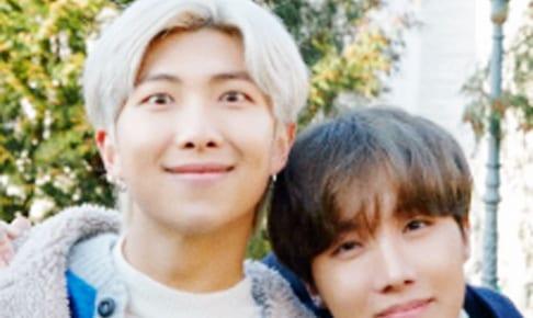 (左)BTS RM(右)J-HOPE