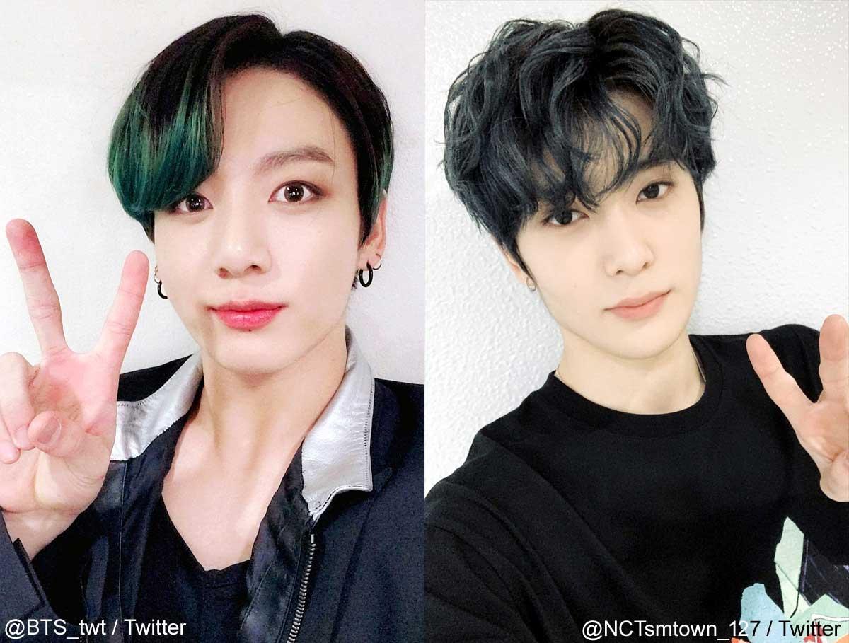 BTSジョングク、NCT 127ジェヒョン(右)