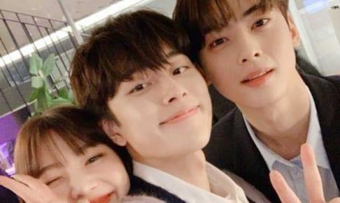 Red Velvetジョイ、ユ・ソンホ、ASTROチャ・ウヌ(右)
