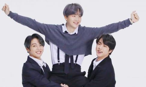 BTSジョングク、シュガ、ジン(右)
