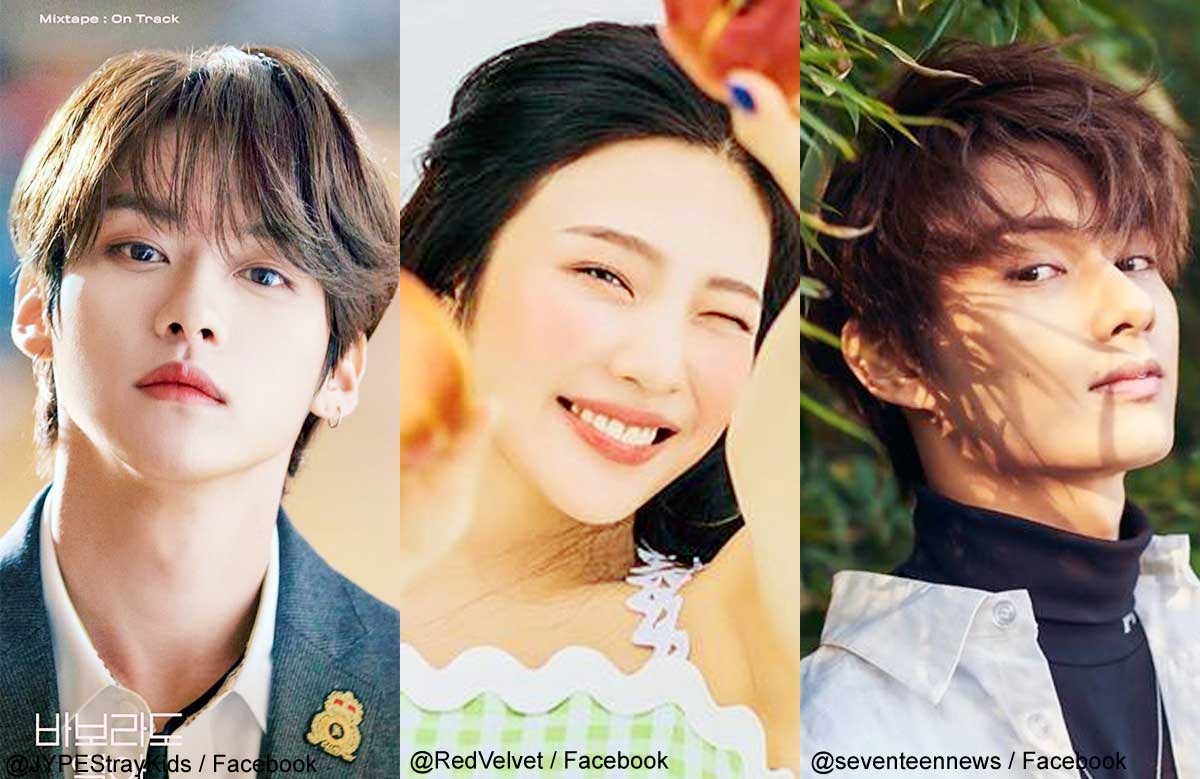 Stray Kidsリノ、Red Velvetジョイ、SEVENTEENジュン(右)