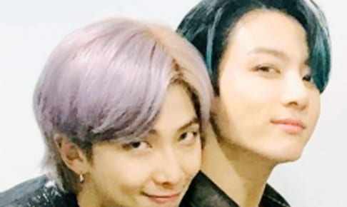 (左)BTS RM(右)ジョングク