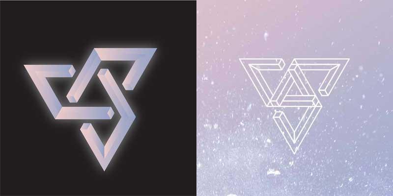 新ロゴ、通常のロゴ(右)・@seventeennews/Facebook