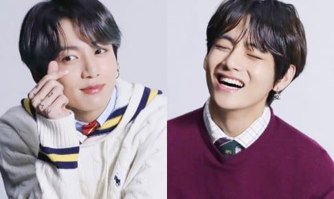 BTS ジョングク(左)、V(右)