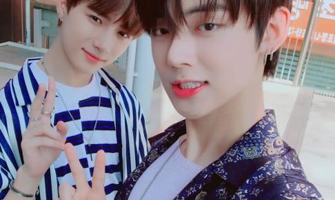 TXT ボムギュ(左)、ヨンジュン(右)