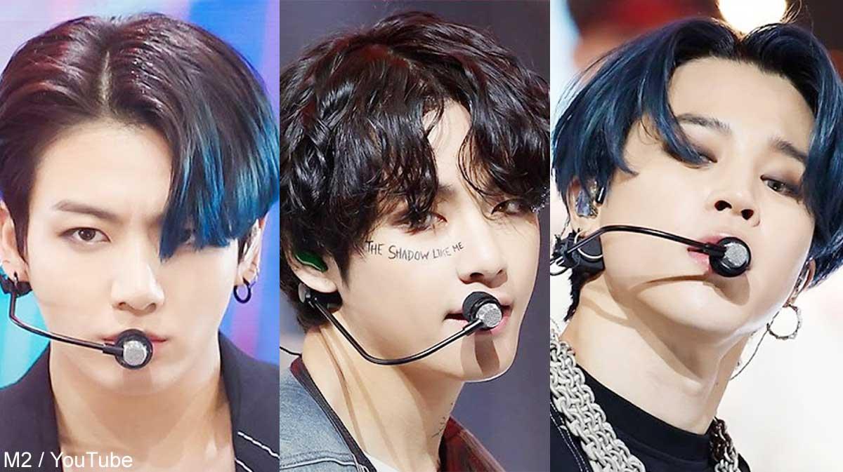 BTSジョングク、V、ジミン(右)