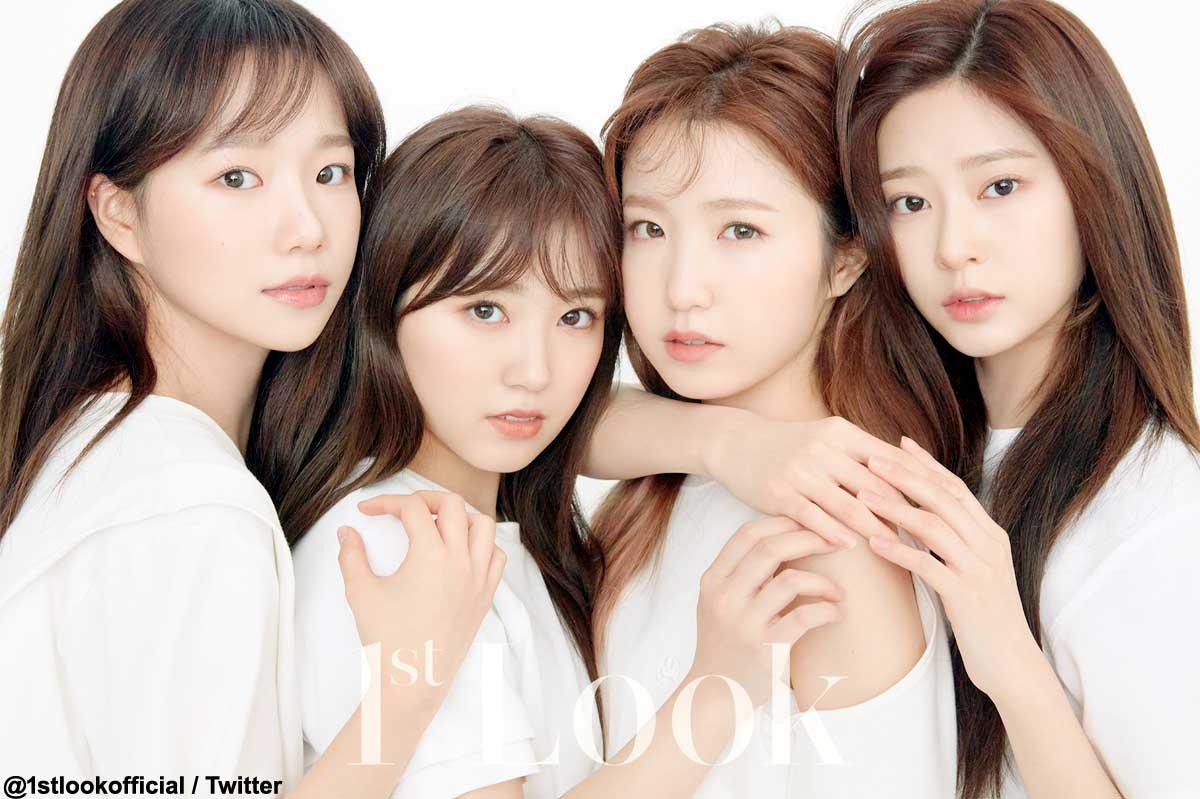(左から)IZ*ONE ユリ、奈子、仁美、ミンジュ