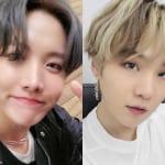 BTS J-HOPE(左)、シュガ(右)