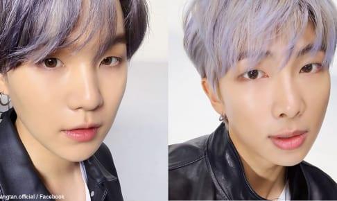 BTS シュガ(左)、RM(右)