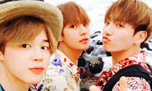 (左)BTS ジミン(中央)V(右)ジョングク