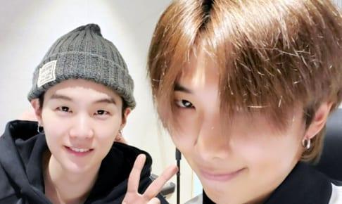 (左)BTS シュガ(右)RM